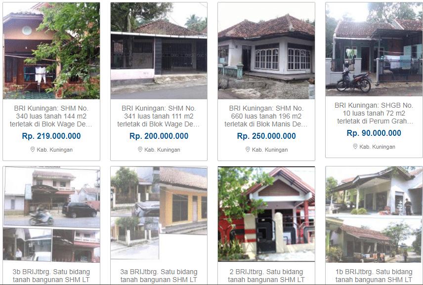 Lelang Rumah, Tanah DLL Wilayah 3 Cirebon